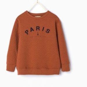 (WORN)Zara Boys RARE Paris France Crewneck Sweater